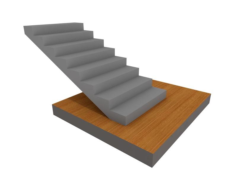 бетонная лестница прямой марш
